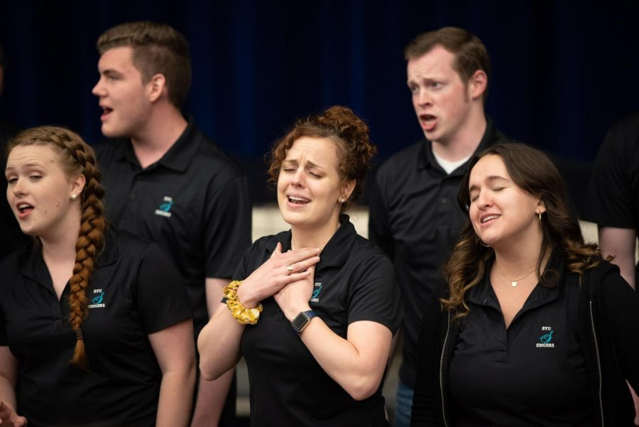 World Renown BYU Singers Hold Workshop For HHS Choir