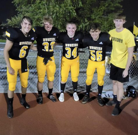 Left to right, Seth Harcrow  Ethan Jones Will Nutcher Conner La Rosa Spencer Summers